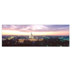Washington DC, Capitol Building, twilight Poster