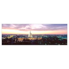 Washington DC, Capitol Building, twilight Poster