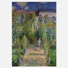 The Artists Garden at Vetheuil, 1880 (oil on canva