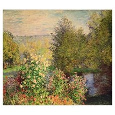 A Corner of the Garden at Montgeron, 1876 7 (oil o Framed Print