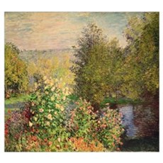 A Corner of the Garden at Montgeron, 1876 7 (oil o Poster