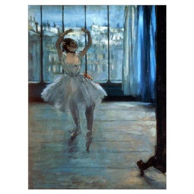 Dancer in Front of a Window (Dancer at the Photogr Framed Print