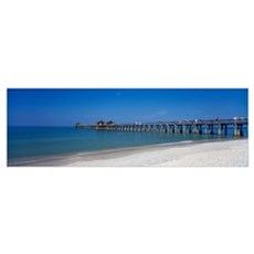 Naples Pier Gulf of Mexico Naples FL Poster