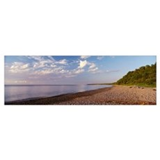 Clouds over a lake, Lake Superior, Michigan Poster