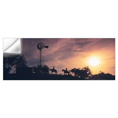 Sunset Cowboys Texas Wall Decal