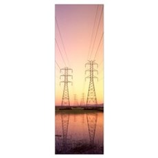 Power Lines CA Poster
