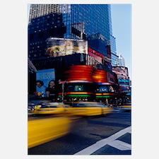 Traffic on a street, Times Square, Manhattan, New