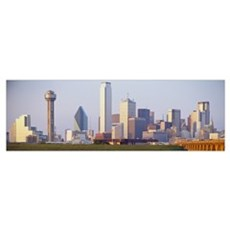 Buildings in a city, Dallas, Texas Poster
