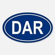 DAR Oval Decal