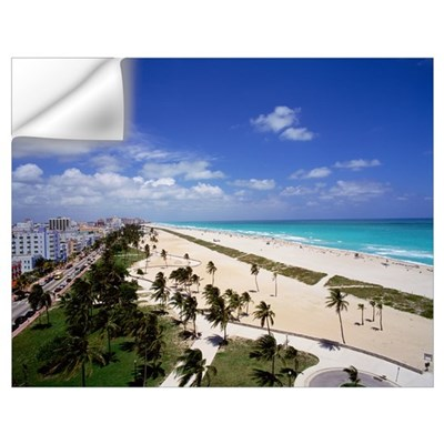 Florida, Miami, Ocean Drive and South Beach of Mia Wall Decal