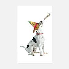 Foxhound Birthday Sticker (Rectangle)