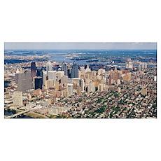 Aerial view of a city, Philadelphia, Pennsylvania Poster