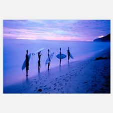 Surfers on Beach Costa Rica
