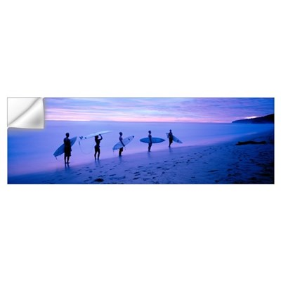 Surfers on Beach Costa Rica Wall Decal