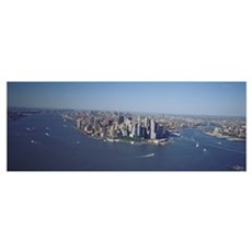 Aerial Lower Manhattan New York City NY Canvas Art