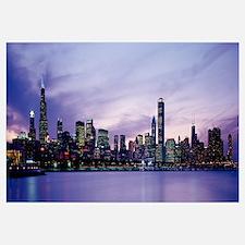 Night Skyline Chicago IL