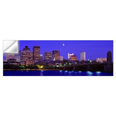Dusk Charles River Boston MA Wall Decal