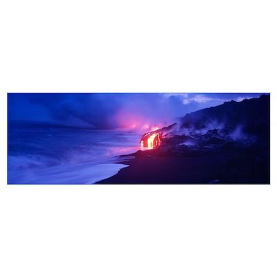 Kilauea Volcano Hawaii HI Poster