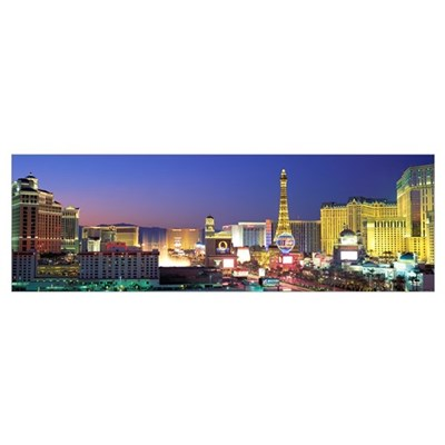 Dusk The Strip Las Vegas NV Poster