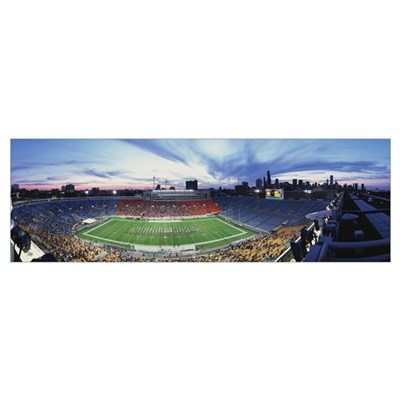 Soldier Field Football Chicago IL Poster