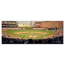Camden Yards Baseball Game Baltimore MD Poster