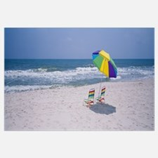 Chairs on the beach, Gulf of Mexico, Alabama