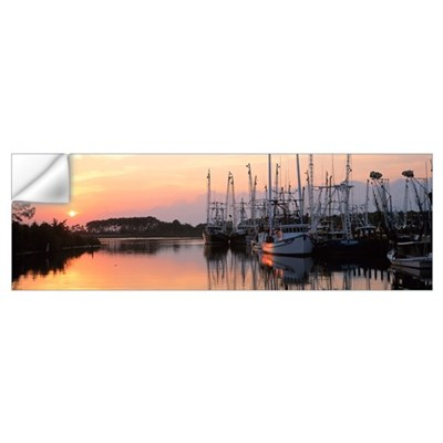 Sunset Shrimp Boats AL Wall Decal