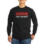 Classified Top Secret Long Sleeve Dark T-Shirt