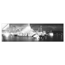 Evening Buckingham Fountain Chicago IL Wall Decal