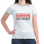 Classified Top Secret Jr. Ringer T-Shirt