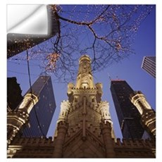Winter Water Tower Chicago IL Wall Decal