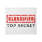 Classified Top Secret Throw Blanket