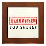 Classified Top Secret Framed Tile