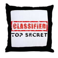 Classified Top Secret Throw Pillow
