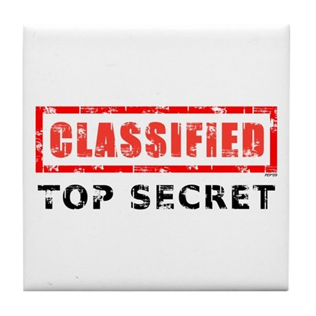 Classified Top Secret Tile Coaster