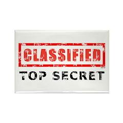 Classified Top Secret Rectangle Magnet (100 pack)