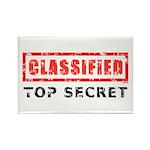 Classified Top Secret Rectangle Magnet (10 pack)