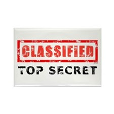 Classified Top Secret Rectangle Magnet