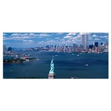 New York Harbor Statue of Liberty New York NY Poster