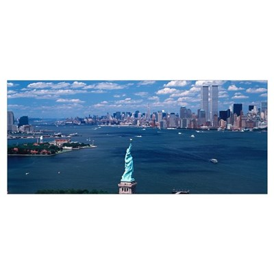 New York Harbor Statue of Liberty New York NY Framed Print