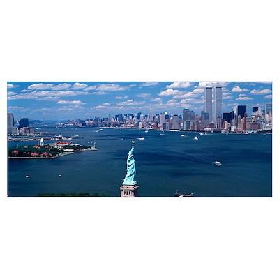 New York Harbor Statue of Liberty New York NY Poster