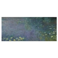 Waterlilies: Morning, 1914 18 (centre right sectio Framed Print