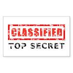 Classified Top Secret Sticker (Rectangle 50 pk)