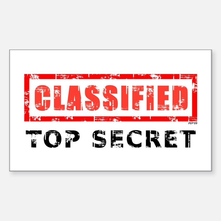 Classified Top Secret Decal