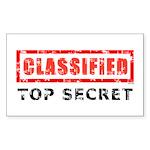 Classified Top Secret Sticker (Rectangle)