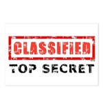 Classified Top Secret Postcards (Package of 8)