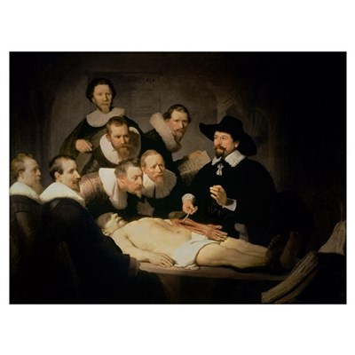 The Anatomy Lesson of Dr. Nicolaes Tulp, 1632 (oil Poster