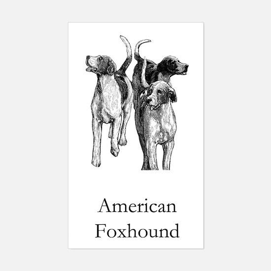 American Foxhound Sticker (Rectangle)