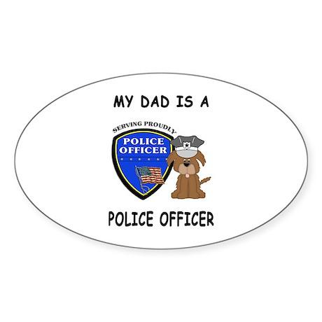 Police Dad Sticker (Oval)