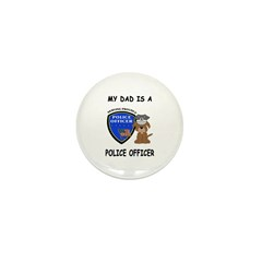 Police Dad Mini Button (100 pack)